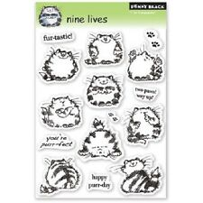 PENNY BLACK RUBBER STAMPS CLEAR NINE LIVES CATS STAMP SET