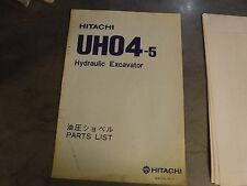 Hitachi UH-04-5   EXCAVATOR Parts book