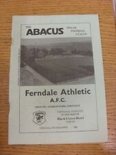 11/11/1987 Ferndale v Nailsea [Friendly] (creased). Condition: Listed previously