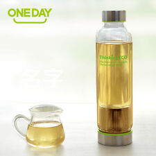 Portable Glass Tea Infuser Bottle with Stainless Steel Filter Sport Fruit Sleeve