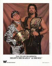 WWF PROMO PHOTO SHAWN MICHAELS & DIESEL KEVIN NASH OFFICIAL WWE 8x10 P233