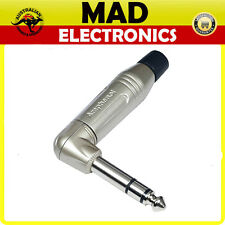 6.35mm Right Angle 90 Deg. Stereo Metal ACPS-RN Jack Plug