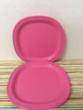 "Tupperware Luncheon Plates Set of 4 Pink 7 3/4"" New"