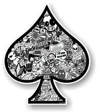 ACE OF SPADES With B & W Sticker bomb Design vinyl Car Helmet Bike sticker decal