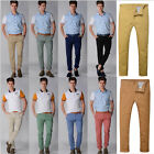 Fashion Mens Slim Straight Fit Casual Pants Skinny Stretch Pencil Slack Trousers