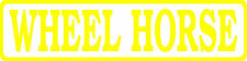WHEEL HORSE OUTLINE DECAL / STICKER - SET OF 2 - YELLOW