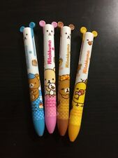 NEW 4Pcs×2 colour San-x Rilakkuma 2 in 1 Ball pen Kawaii Stationery School Free