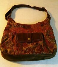 FOSSIL GORGEOUS MULTI-COLOR TAPESTRY fabric purse shoulder bag handbag 1954