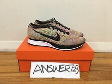 Nike Flyknit Racer Multicolor Sz 9.5 Rainbow Air Zoom Max Oreo Running NSW Lab