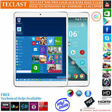 Teclast x98 Pro 64 Go GPS Intel 2.24 ghz double système d'exploitation Windows 10 Android Tablet PC 5.1