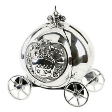 Cinderella Carriage Money Box Silver Plated Christening Baby Gift