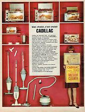 PUBLICITE ADVERTISING 114  1966  CADILLAC   aspirateurs  éléctroménager
