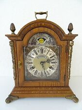 Warmink Wuba Dutch Mantel Antique MOONPHASE clock (Junghans Kienzle Hermle era)