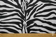 ZEBRA PRINT VELOUR FABRIC (1 WAY STRETCH) - WIDTH 150 CM