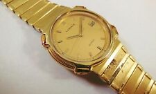 Lassale by Seiko Gold Tone Stainless Steel 9552-6010 Sample Watch NON-WORKING
