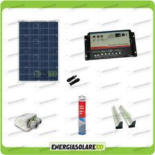 Kit Solare Camper 100W 12V passacavo spoiler colla sigillante regolatore di cari
