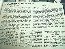 newspaper cutting 1956 film review I married a woman diana dors