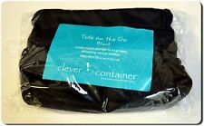 Clever Container Tote On The Go Organizer- Car Seat, Stroller, Wheelchair, Black