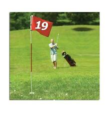 #1 FULLSIZE PRACTICE GOLF FLAG STICK POLE PIN CUP 19th HOLE PUTT CHIPP PITCH SET