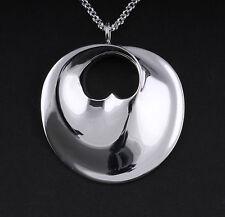 Georg Jensen Sterling Silver Pendant Hidden Heart Large. Design: Vivianna Torun