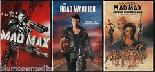 Mad Max 1 2 3 DVD Lot Collection Originals Road Warrior Beyond Thunderdome NEW