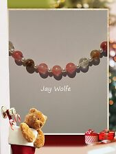 UNIQUE WATERMELON TOURMALINE BEADED HANDMADE NECKLACE JEWELLERY @ JAY WOLFE