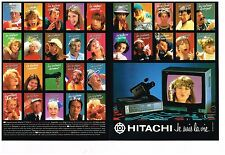 Publicité Advertising 1983 (2 pages) Camera Video Téléviseur Hitachi