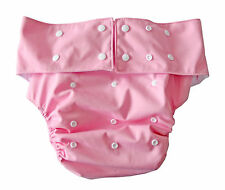 XL Cloth Nappy Child Teenager Adult Incontinence waterproof adjustable size Pink