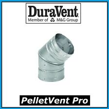 "DURAVENT PELLETVENT PRO Pipe 3"" Diameter 45 Degree Elbow #3PVP-E45 NEW!"