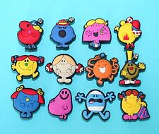 Mr Men Toys 12 Party Favours Cupcake Toppers Cake Decorations Charms Little NEW