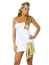 Women White Sexy Halloween Party Dress Egypt Queen Godness Costume Cosplay