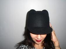 Chapeau casquette boule noir original oreilles animal animaux ears chat cat