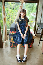 Kawaii Cute Starry Angel Dark Blue [ Lolita Dress + Lace smock Set !! ]