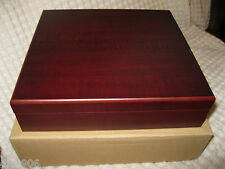 CHERRY WOOD THOMPSON & CO 1915 CIGAR HUMIDOR W/ HYGROMETER & CEDAR LINING-NEW!