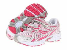 Saucony Cohesion 6 Girls Velcro Sneakers Pink/Silver  Girls Size 10 1/2 Wide