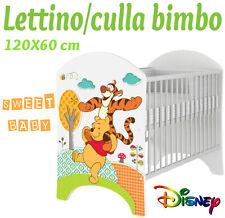 LETTINO CULLA BIMBO 120X60 CM!COLLEZIONE DISNEY2016 WINNIE POOH & TIGRO