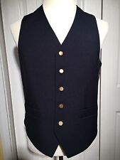 Vtg Levi's Brown Label Snap Vest Men's Retro Steampunk Rockabilly M/L NICE
