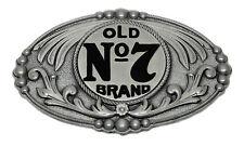 Jack Daniel's Hebilla De Cinturón Antiguo Nº 7 Marca Oval Estilo Oeste Con Licencia Oficial