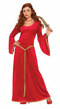 RED MAGA Fancy Dress Costume Medievale Princess Gioco di THRONES Vestito Nuovo