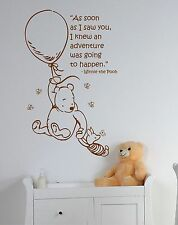 Classic Children's Winnie the Pooh & Piglet Wall Art Sticker Decal Quote Saying
