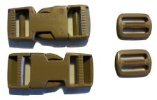 Two MOLLE Buckles Sets with Tri-Glides and 10ft of Propper Coyote Lashing Strap