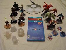 Disney Infinity 2.0 and 3.0 WII U games 14 characters, 8 powerups w/game board