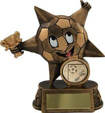 "Football Trophies Gold Fun Football Star Novelty Kids Award 4.5"" FREE Engraving"