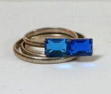 Ceinture vintage articulée strass bleu
