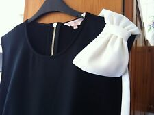 Ted Baker sz 14 4 Double Layer Wrap Style Dress With Shoulder Detail Bow.£190