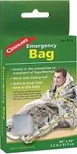 "EMERGENCY BAG-WIND AND WATER PROOF BAG, REFLECTS HEAT TO BODY AND HEAD 36""X 84"""