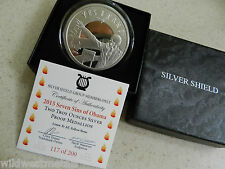 SEVEN SINS OF OBAMA - 2OZ ZOMBIE-IN-CHIEF - SBSS - SILVER SHIELD - 200 MINTED