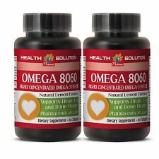 Omega 3 Fish Oil OMEGA 8060.Product of Norway Pharmaceutical Grade 2 Bottles
