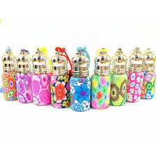 6ML Polymer Clay Empty Perfume&Essential Oil Bottle Flower Roll On Roller Hot