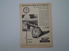 advertising Pubblicità 1956 OROLOGIO TISSOT VISODATE